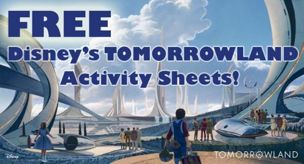 free disneys tomorrowland activity sheets