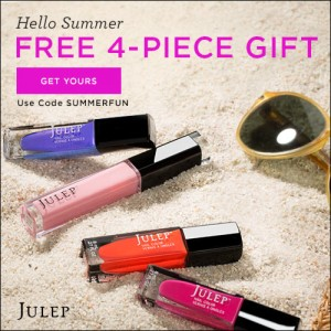 julep 4 piece summer brights welcome box