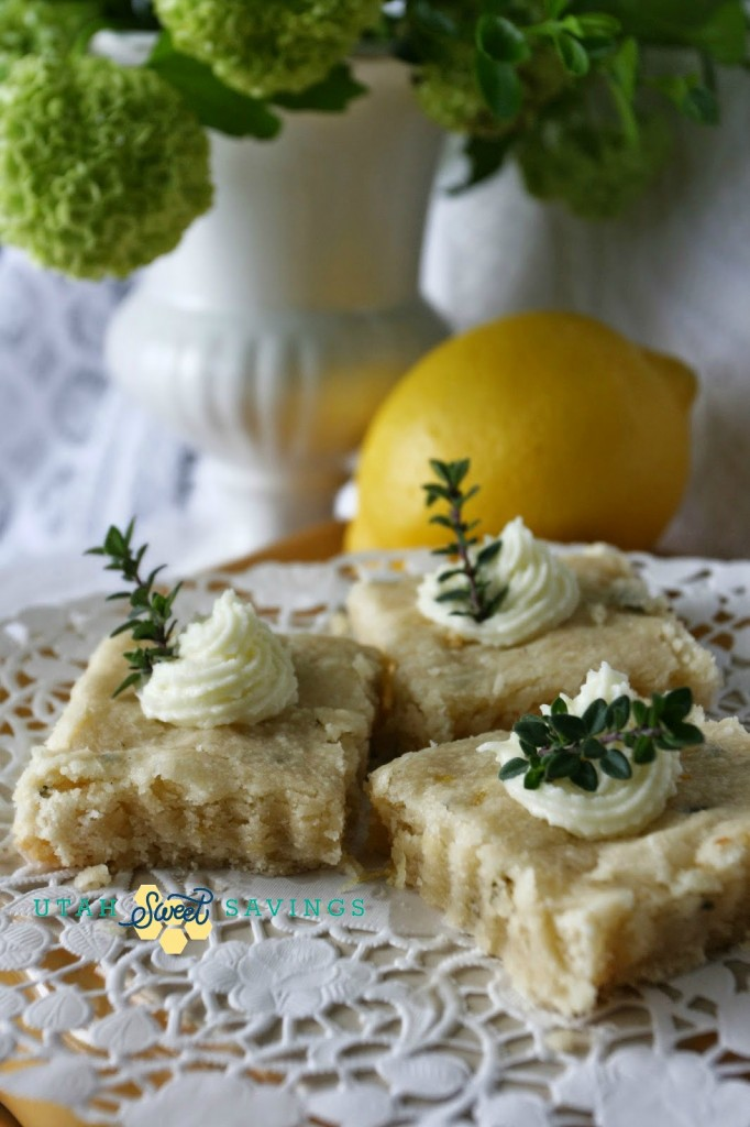 lemon thyme shortbread Utah Sweet Savings