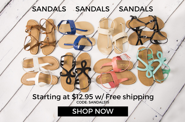 2a312ff63b8d Sandal Sale- Starting at  12.95   Free Shipping!