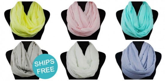 solid knit infinity scarves