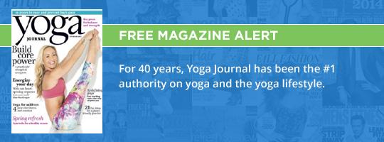 yoga journal freebie