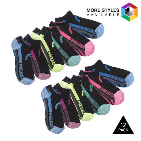 12-Pack HEAD Women's Moisture Wicking Socks