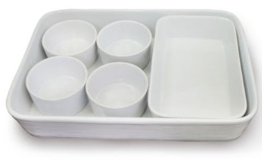 Euro Ceramica 6-pc. Ceramic Bakeware Set nested