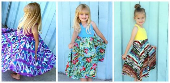 Girls Spinning Dresses