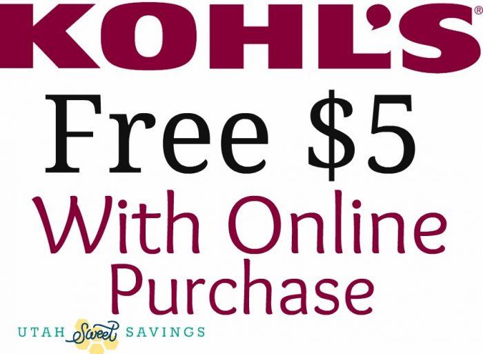 Kohls free $5