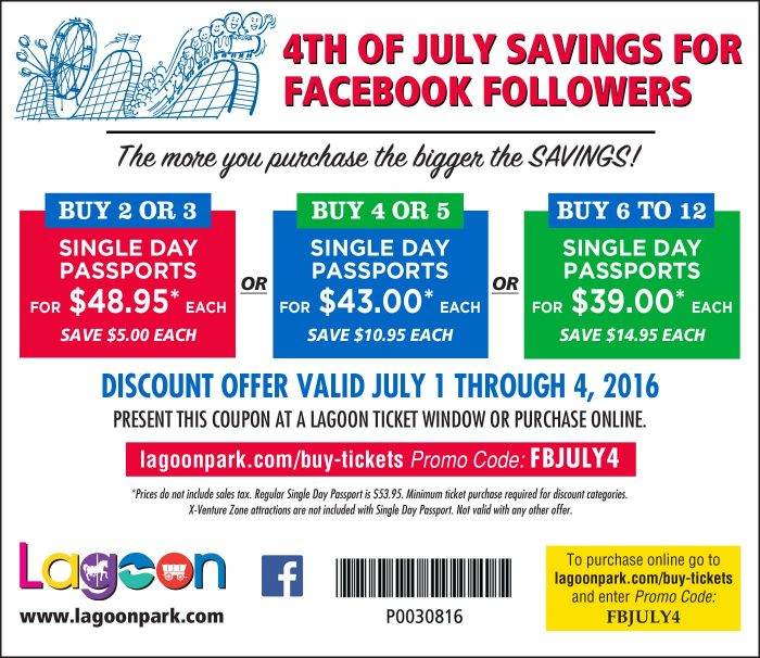 Lagoon July 4 deal