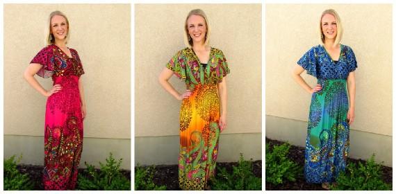 Summer Paisley Maxi Dress