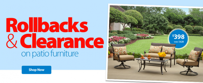 Patio furniture walmart clearance patio furniture for Furniture at walmart