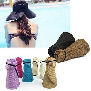 Women's Wide-Brim Roll-Up Summer Hats