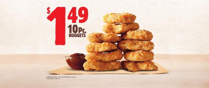 burger king 10 piece nugget