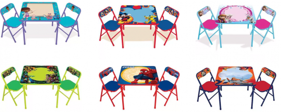 On The Go Erasable Activity Table Set With 3 Markers From