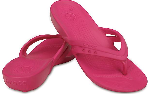 crock flip flops