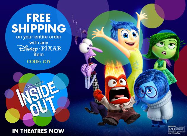 disneystore free shipping pixar