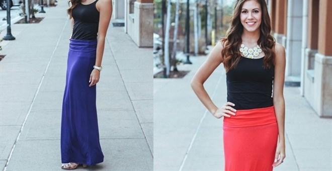 fold over maxi skirt clearance