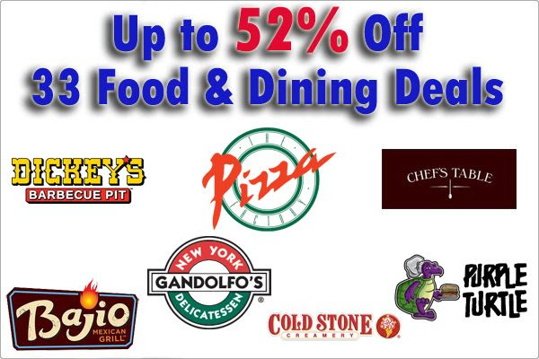 funsaver food and dining deals
