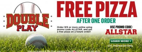 papa johns free pizza