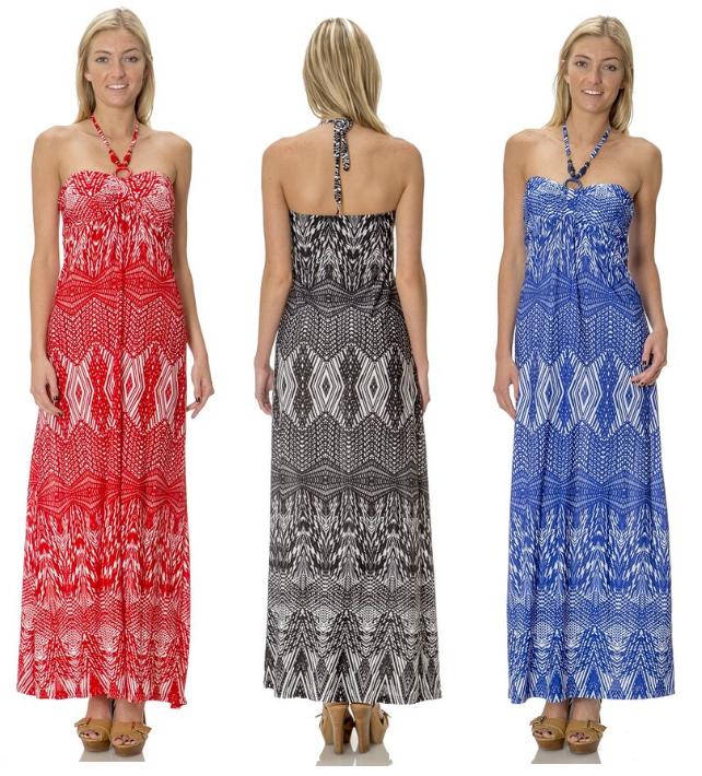 silky stretch maxi dress