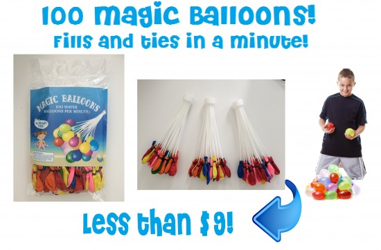 100 magic water balloons