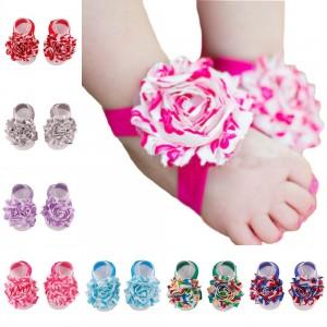Baby Girl's Barefoot Sandals Flower