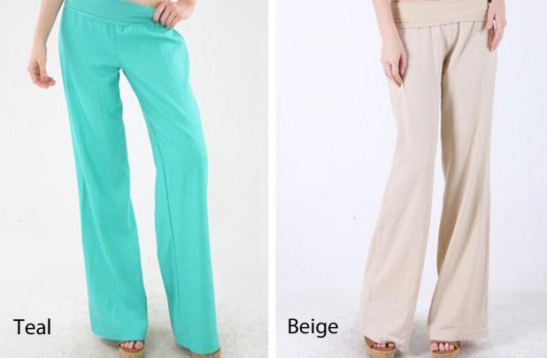 Fold Over Linen Pants