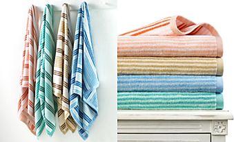 Martha Stewart Collection Coordinated Stripe towels