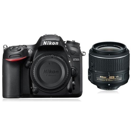 Nikon D7200 Digital SLR Camera Body + 18-55mm VR II Lens DSLR Kit