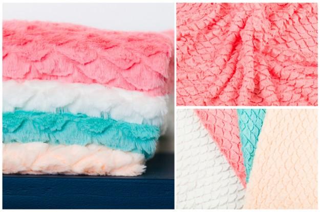 Scallop Pattern Minky Fabric