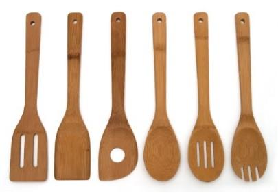 Set of 6 Bamboo Kitchen Tools