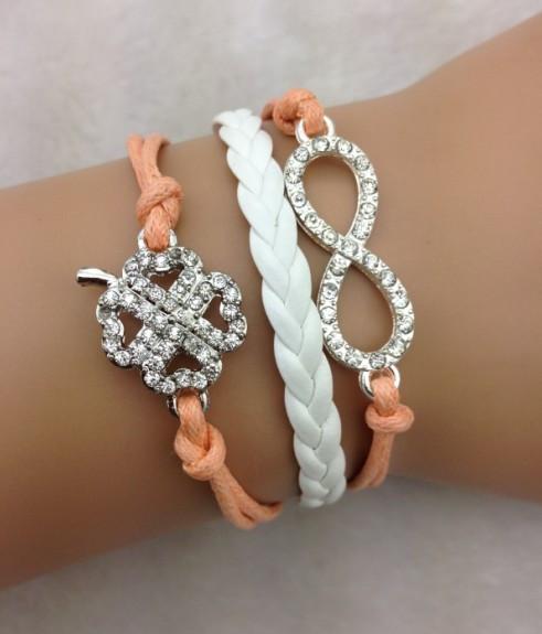 Sparkly Infinity Wrap Bracelet