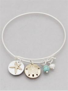 Starfish & Sand Dollar Expandable Bracelet