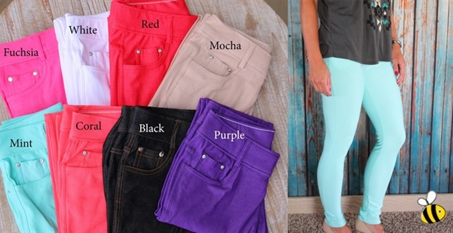 Summer Colored Jeggings
