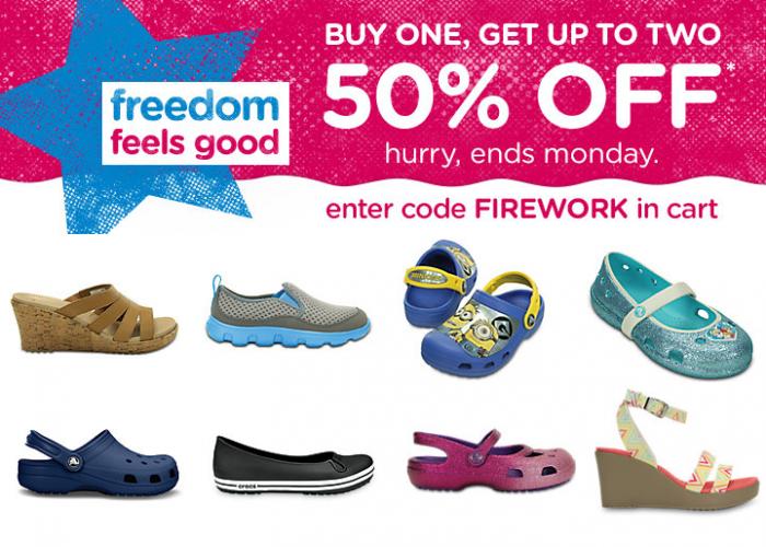 crocs firework sale