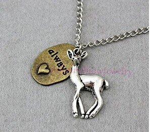deer always necklace