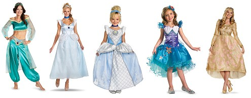 disney princess costumes adults and kids