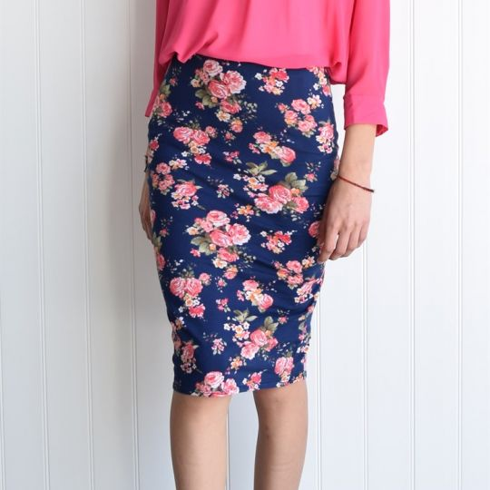 floral pencil skirt - photo #17