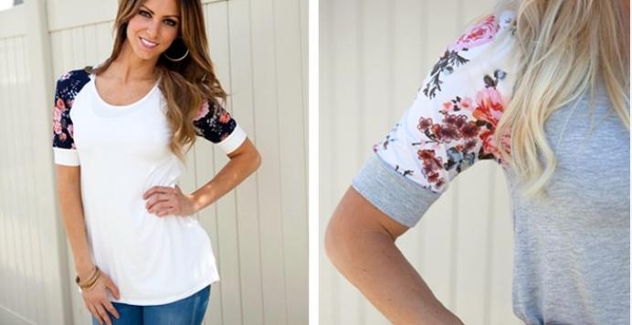 flower sleeve top