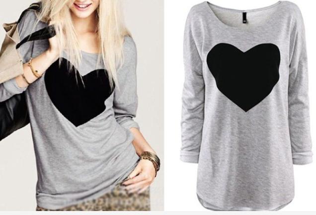 heart long sleeve shirt