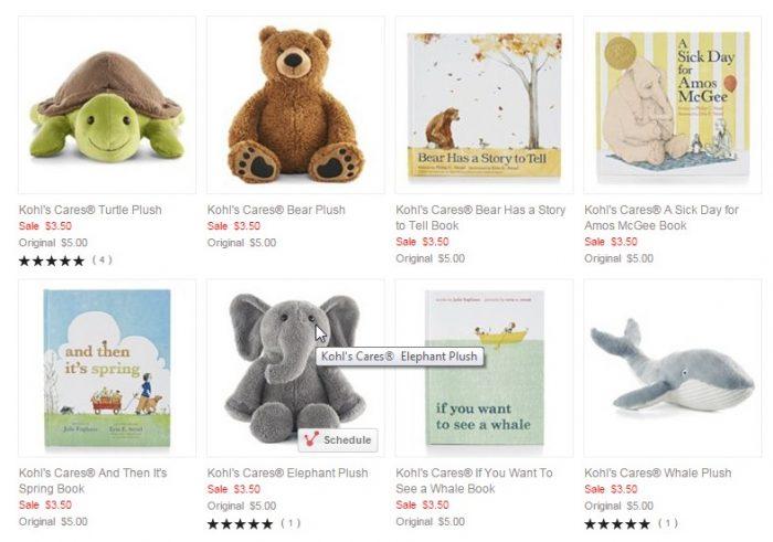 Kohl S Cares Books Stuffed Animals For 3 50 Utah Sweet Savings