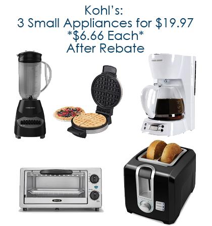 kohls small appliances