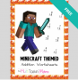 minecraft worksheet
