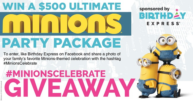 minions birthday express giveaway