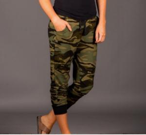 pattern jogger pants