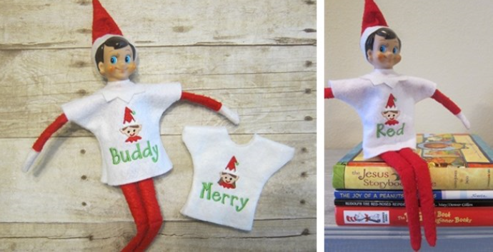 personalized elf shirts