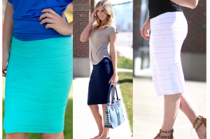 rushed pencil skirts