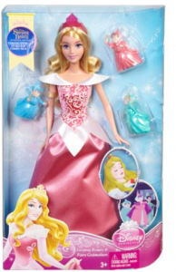 sleeping beauty doll and fairies