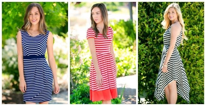 striped dress blowout