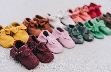 suede baby moccs