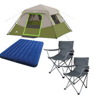 Ozark Trail 6-Person Instant Cabin Tent w/ 2 Folding Chairs