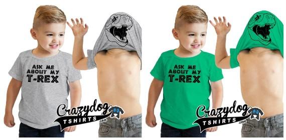 toddler t-rex flip shirt
